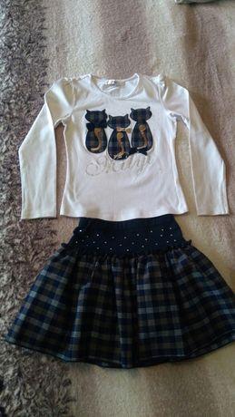Юбка/блуза,6-8 лет