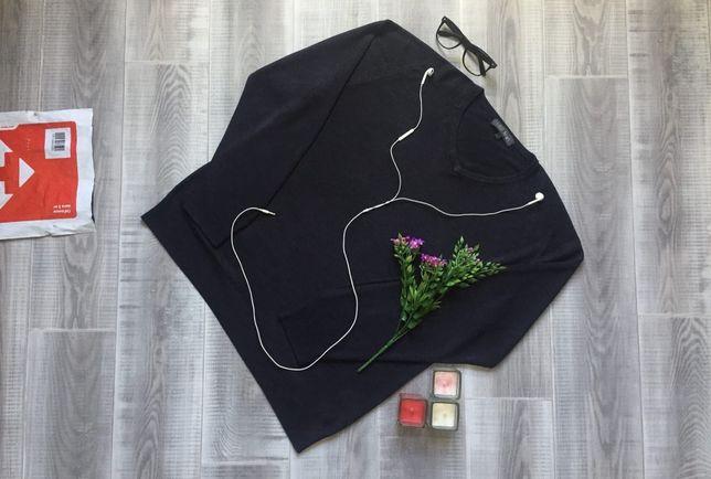 Свитер чёрный M&S, размер L Xl, котон шерсть кофта джемпер худи