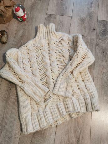 Sweter Zara ażurowy