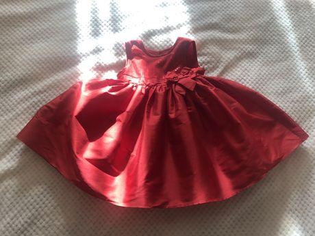 Красное и нарядное платье
