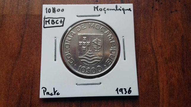 Moeda 10$00 1936 Moçambique MBC+