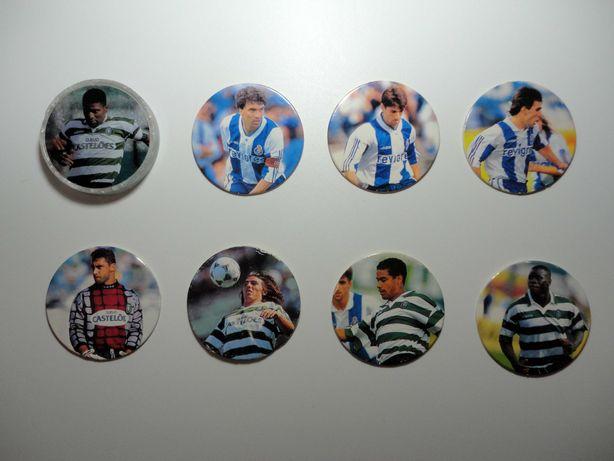 40 Tazos Caps Futebol 95-96 Panini - Portes Grátis