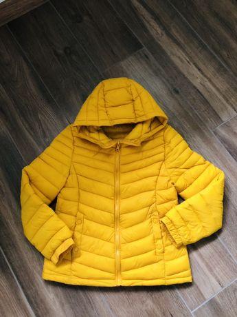 Zara miodowa pikowana kurtka 152