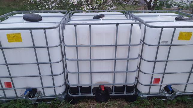 Zbiorniki mauzer 1000l, jak NOWY na deszczówkę, płyny