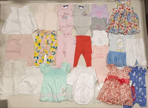 Paka ubranek na lato r 68 koszulki body sukienki leginsy H&M Smyk