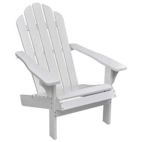 vidaXL Cadeira de jardim em madeira branca 40860