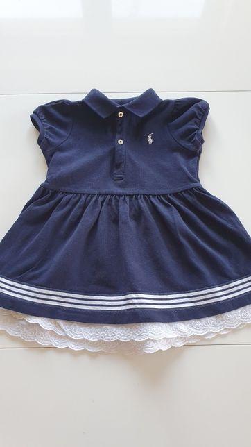 Ralph Lauren  sukienka r. 80 na 12 miesięcy  dziewczynka