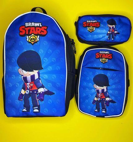 Едгар з Brawl Stars шкільний рюкзак,сумка і пенал від вироб.Crazy Bags