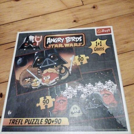 puzzle Angry Birds Star Wars + maskotka Bomba duża 22 cm