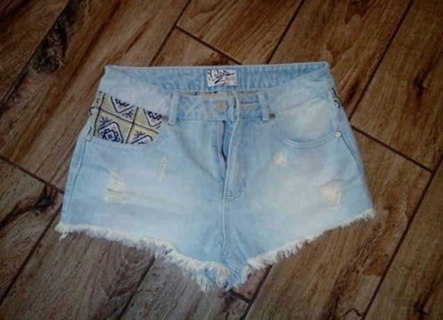Sexowne spodenki xs s 34 36 jansy jeansowe cropp house h&m woodstock