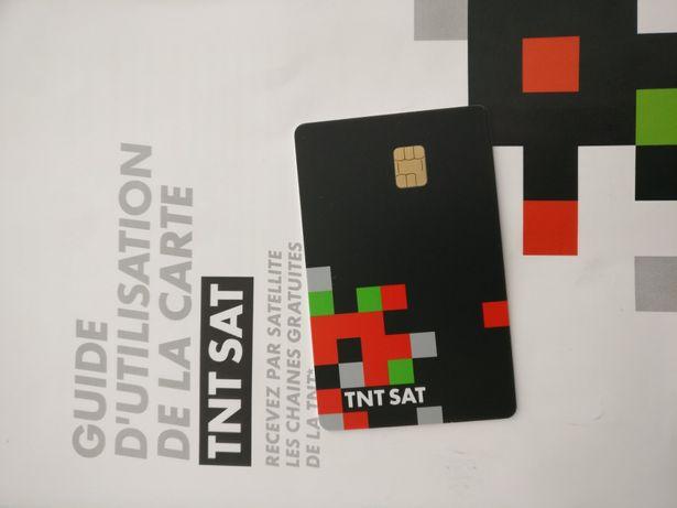 Cartão para recetor canais franceses TNTSAT novo