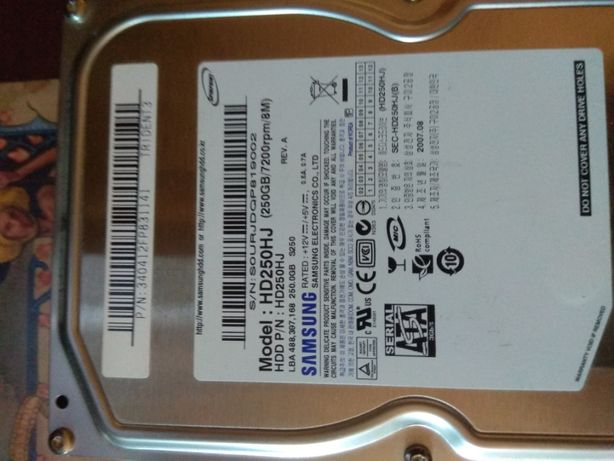 Dysk Samsung HD250HJ 250 GB uszkodzony