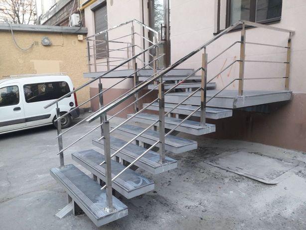 Перила Козырек Лестница изделия из нержавеющей стали