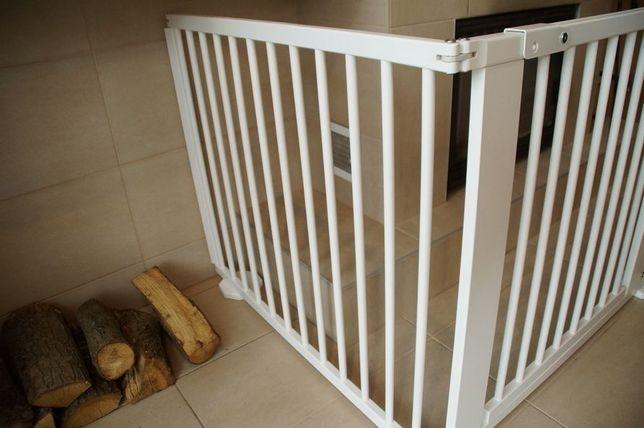 Barierka drewniana blokada bramka schody ,kominek 273 cm BIAŁA nowa