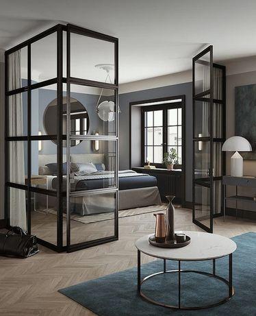 loftowe drzwi, ścianki, balustrady, meble industrialne, meble z metalu