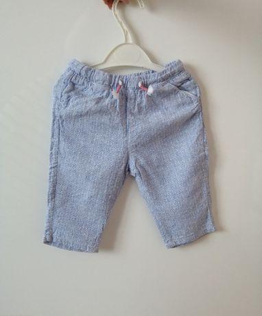 Spodnie h&m roz. 68 ala z lnu dla dziewczynki lato