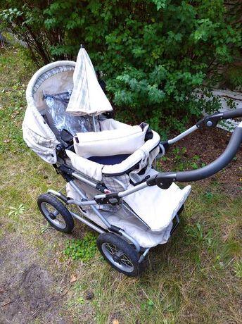 Dwa wózki  Emmaljunga - Chassis C18 + spacerówka