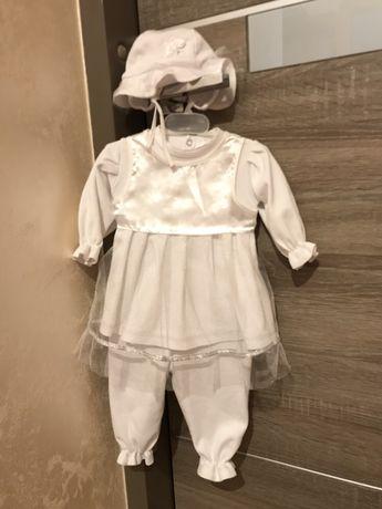 Детская одежда белый костюм для девочки на выписку или крестины