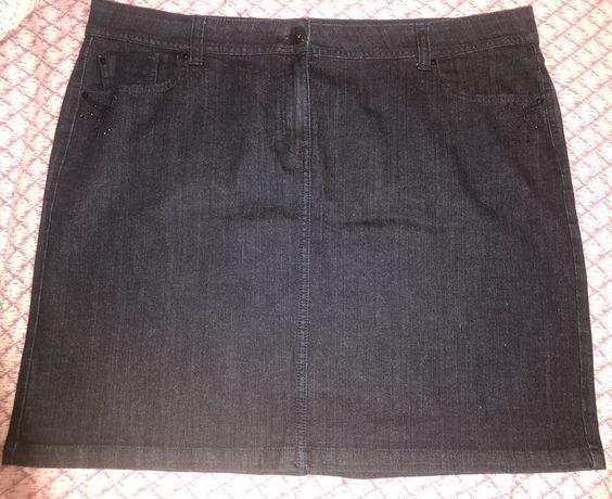 Юбки джинсовые больших размеров