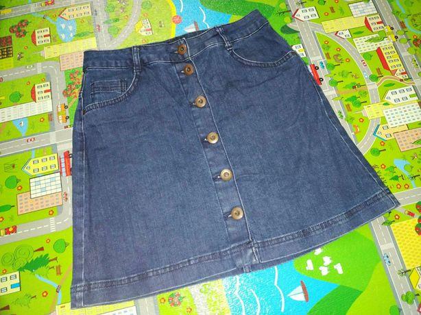 Юбка на пуговках, джинсовая юбка