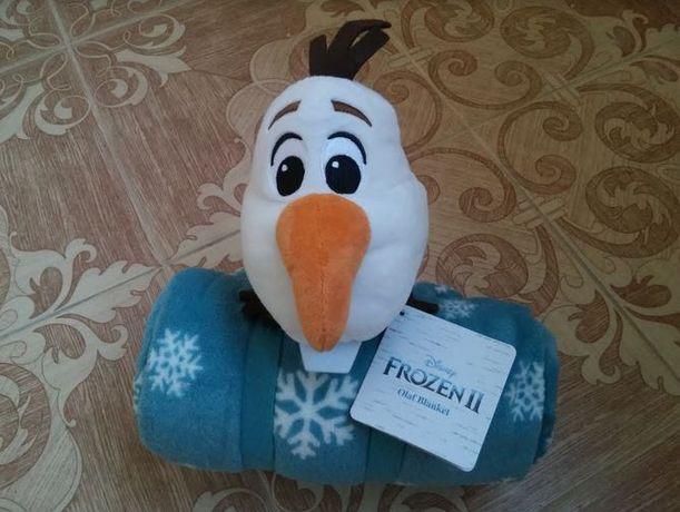 """Плед игрушка """"Снеговик Олаф"""" Дисней Подарок Новый год"""