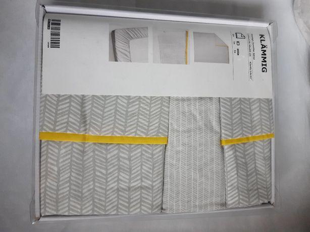 Pościel do łóżeczka niemowlęcego Ikea Klammig nowa