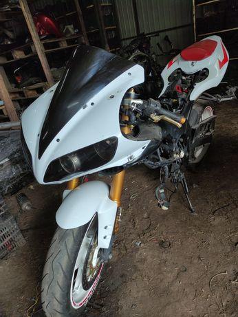 Вилка в сборе Yamaha R1 05г с колесо суппорта траверсы диски