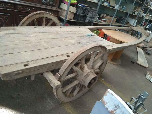 Carro de Bois, Carroça de carga Século XIX - Madeira e ferro fundido