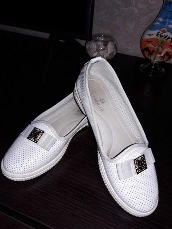 Белые туфли р.33 21.5 см