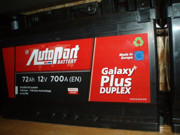 Akumulator 12V 72Ah AutoPart Plus Duplex nowy Kielce-dowóz gratis