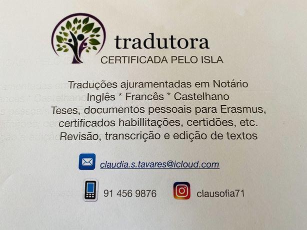 Tradutora certificada