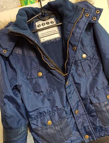 Демисезонная куртка курточка аляска на мальчика 4/5 лет Matalan