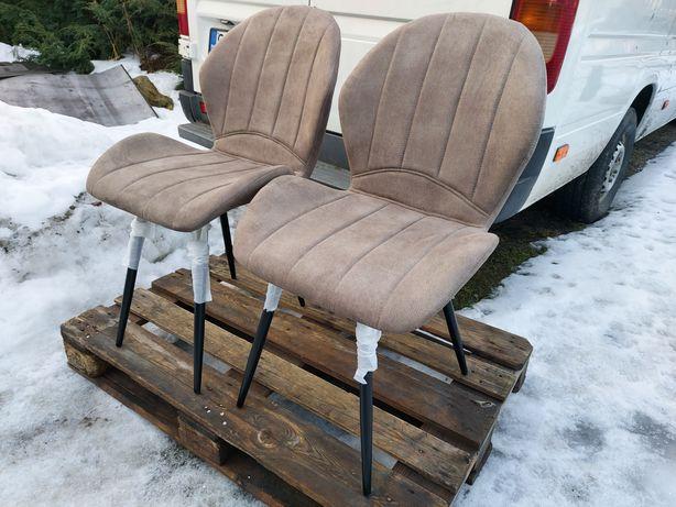 Krzesło do jadalni kuchenne / 2 sztuki / tapicerowane krzesła NOWE