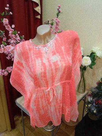 Пляжное шифоновое платье туника р. 128-134