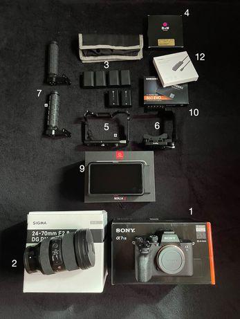 Sony A7S III + Sigma 24-70mm F2.8 + Ninja V + Acessórios