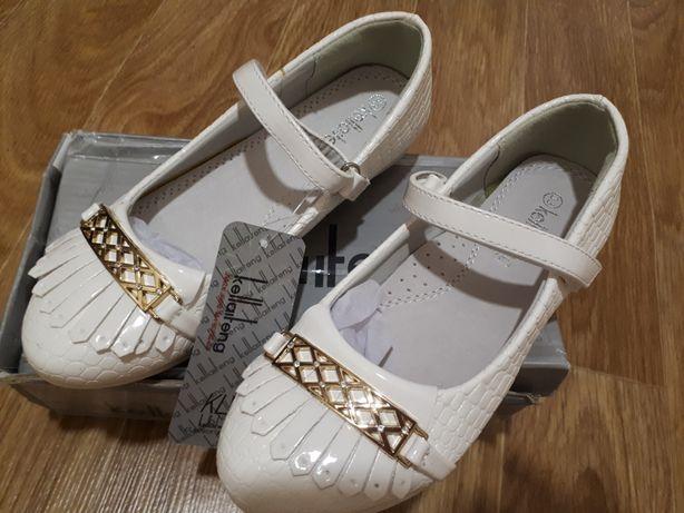 Нарядные туфельки туфли девочке 32 33 размер