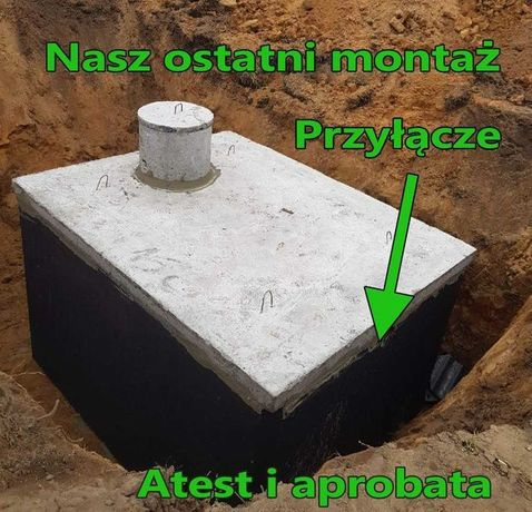 Szamba betonowe zbiorniki na deszczówkę szambo ścieki 12 10m3 152