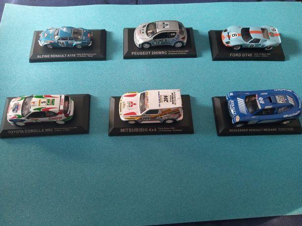 Miniaturas de carros de grandes campeões