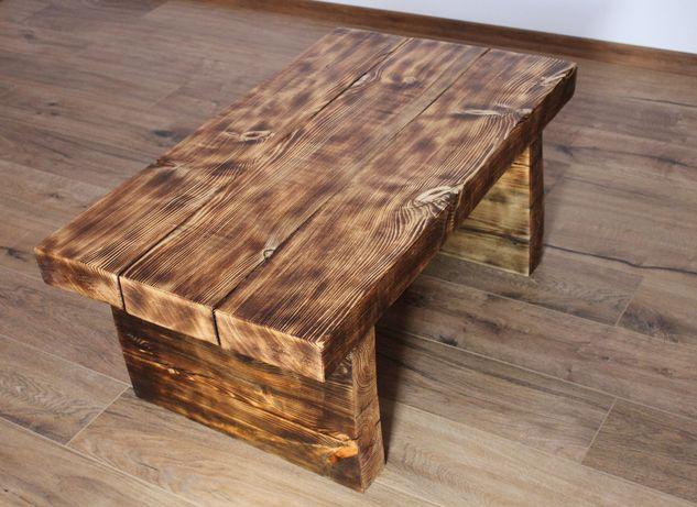 Ława rustykalna z drewna