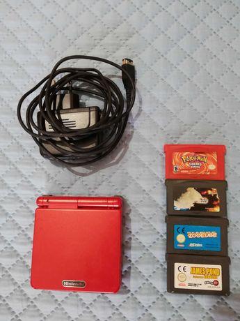 GameBoy Advance SP + 4 jogos