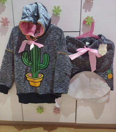 Nowe Kids by voga Italia bluza+ spódnica 122/128