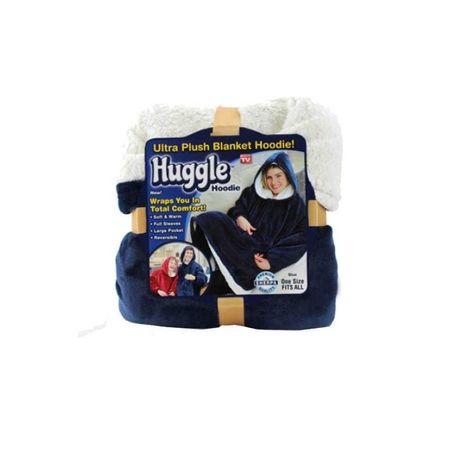 Двосторонній плед з рукавами Huggla Hoodie. Колір сірий