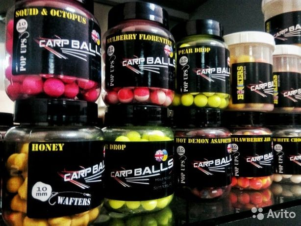 Бойлы Carpballs pop ups 10mm. Ассортимент