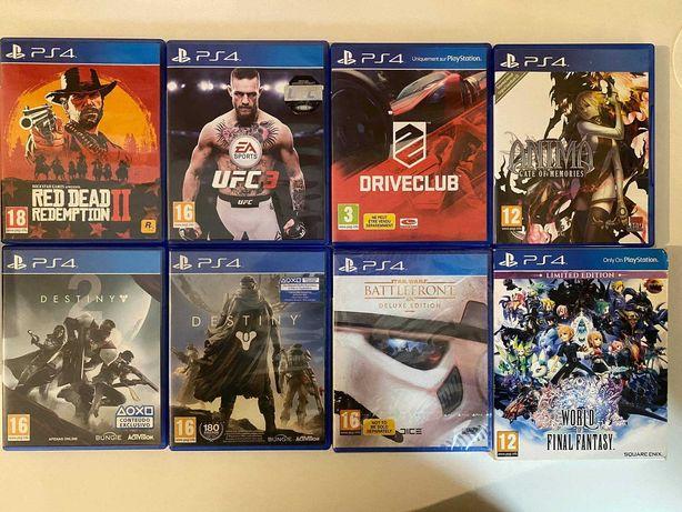 Vendo varios jogos para Playstation 4 (ver fotos e descricao)