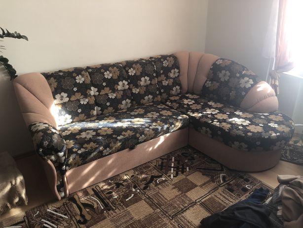 Narożnik sofa z funkcją spania, jak nowy