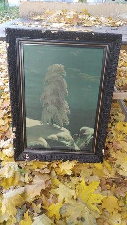 Картина Шишкина На севере диком репродукция ёлка зимой