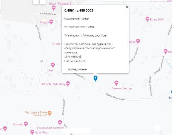 Продается земельный участок в с. Поляниця, 1,5 км от Буковели