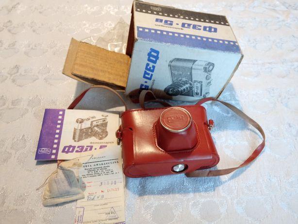 Aparat fotograficzny FED 5 B dziewiczy prezent pudełko instrukcja gwar