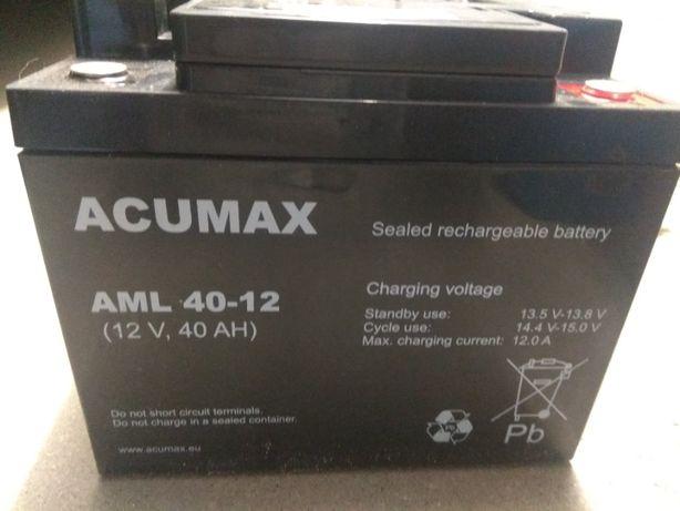 Akumulator żelowy ACUMAX AML 40-12 12V 40Ah