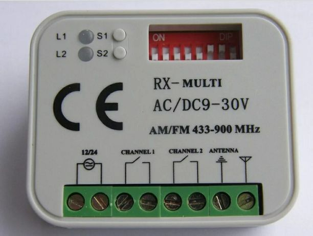 Recetor universal 433mhz (todas as marcas)